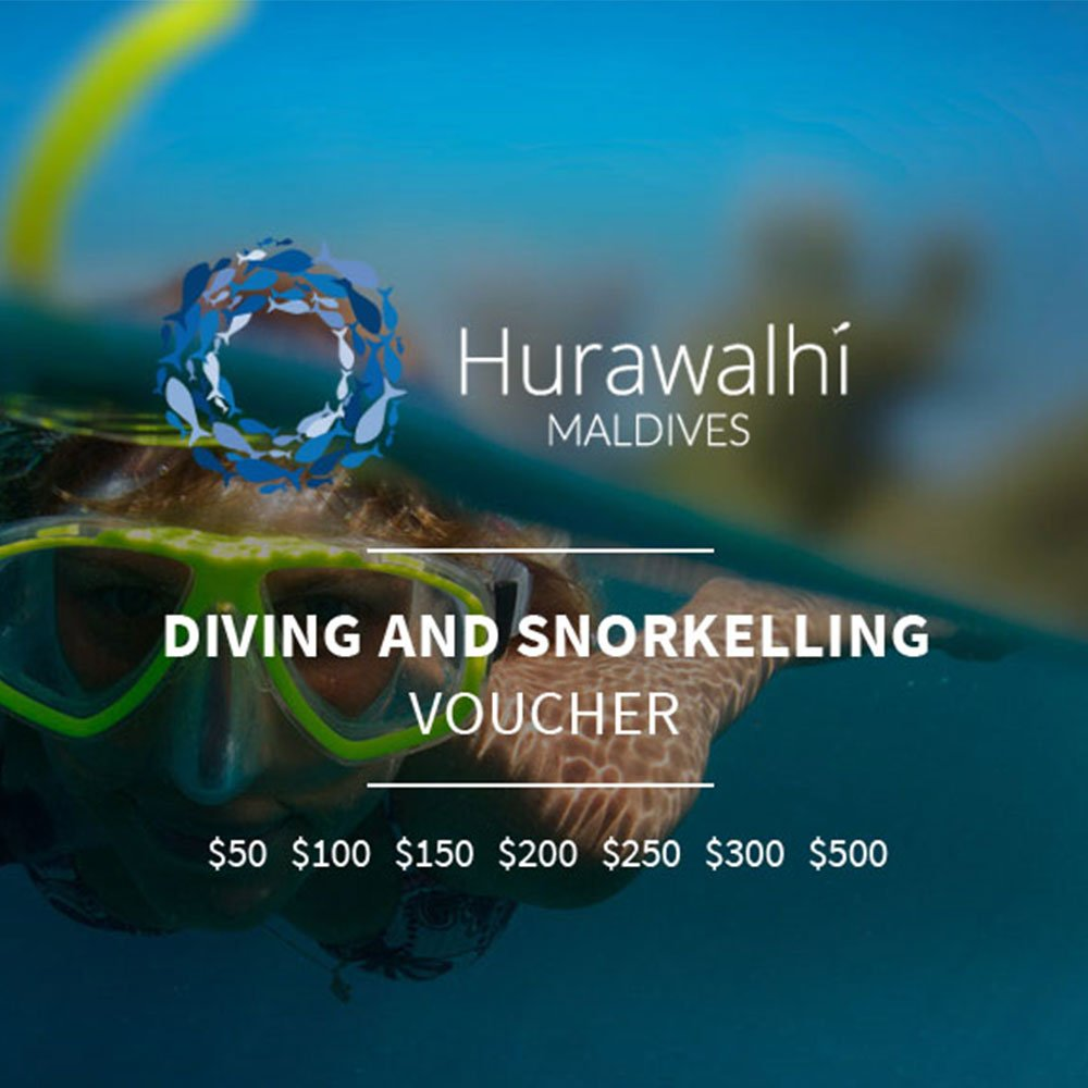 Diving and snorkelling voucher Hurawalhi Maldives