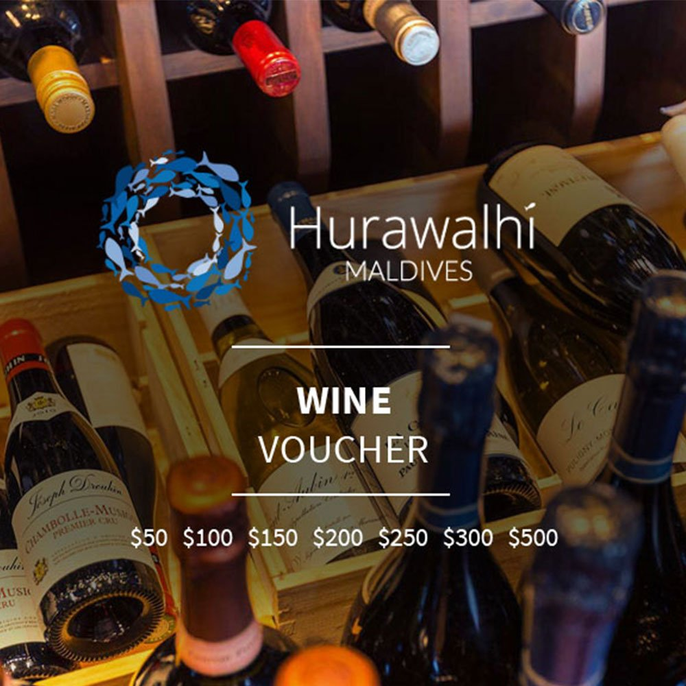 Wine voucher Hurawalhi Maldives