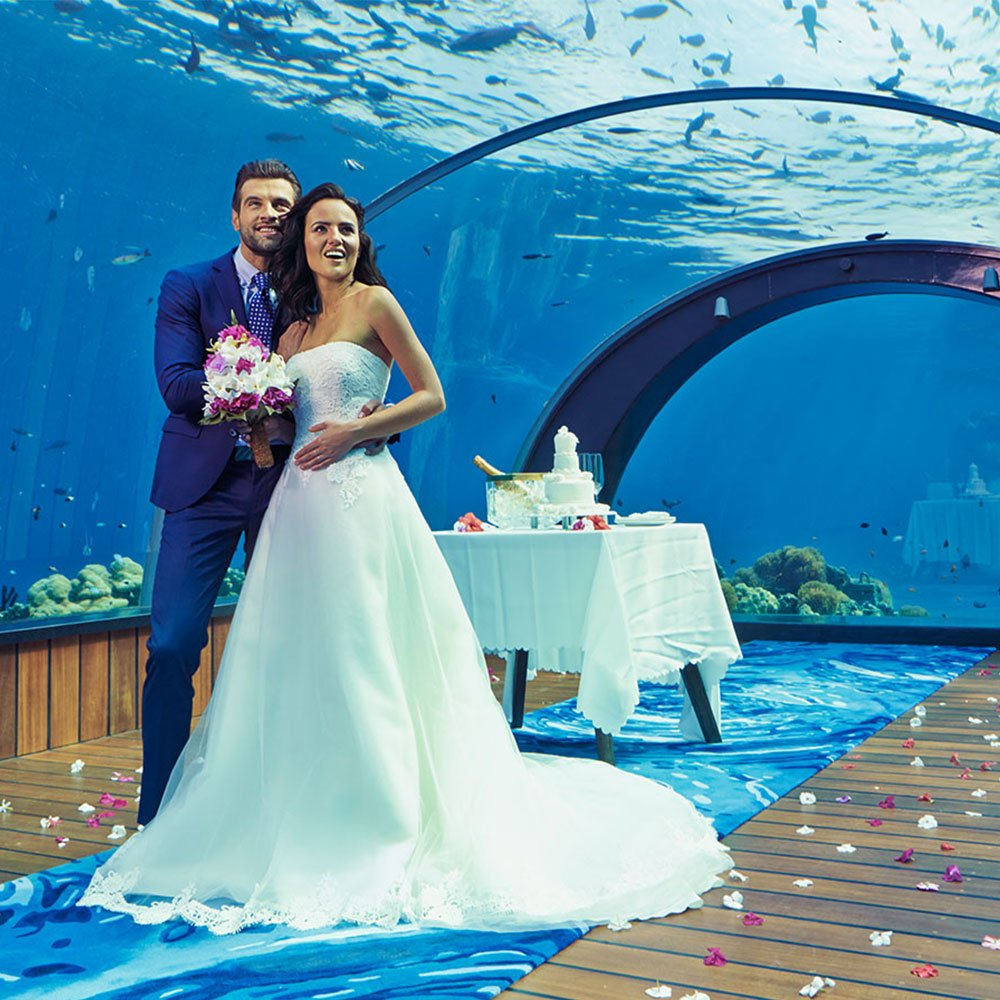 5.8 Undersea Restaurant Wedding Hurawalhi Maldives