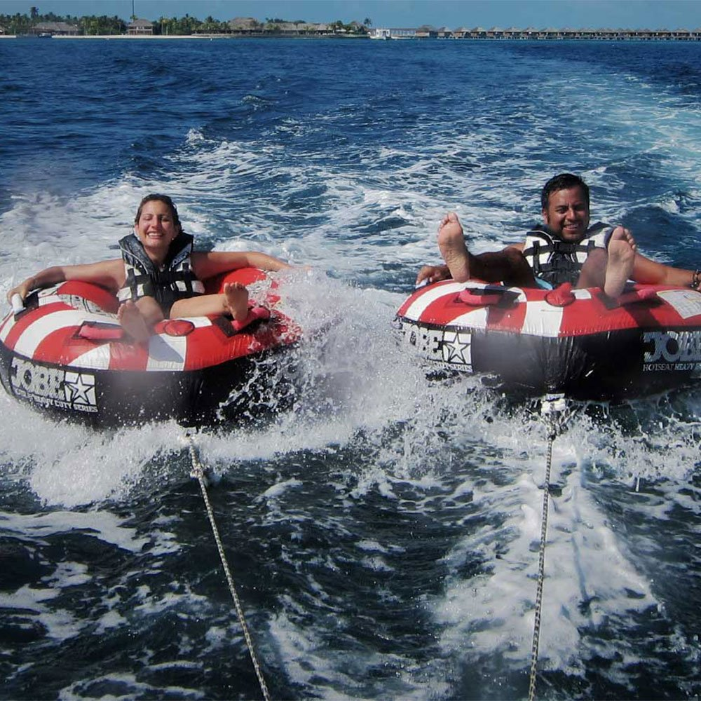 Fun tube Hurawalhi Maldives