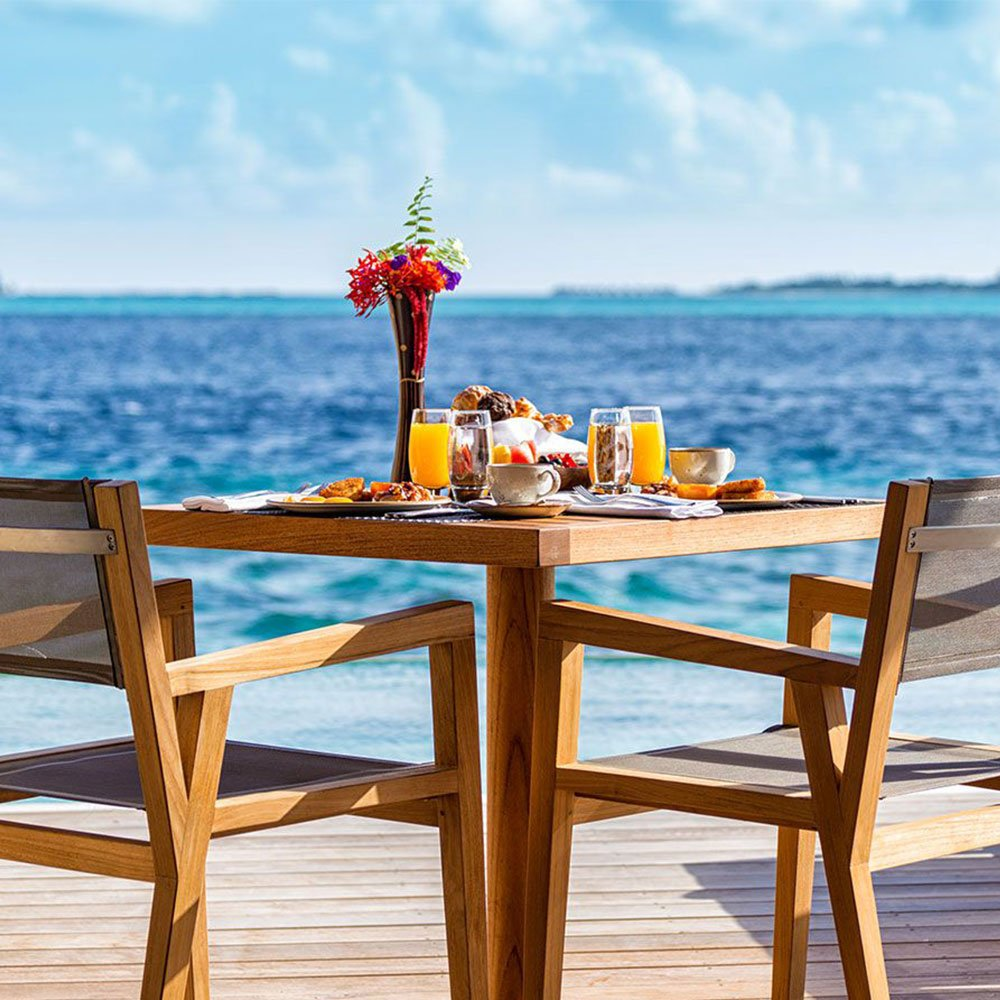 In-villa champagne breakfast Hurawalhi Maldives